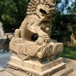 Chinese stone lions — Stock Photo