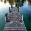 Pier on Lac d'annecy, France — Stock Photo #17019553