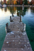 Pier on Lac d'annecy, France — Stock Photo