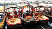 Chinese style boat in Shichahai — Stock Photo