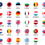 flagi narodowe z członkami nato — Zdjęcie stockowe