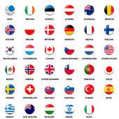 National flag ball of OECD members — Stock Photo