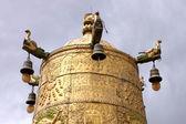 Prayer wheel in Tibet — Stock Photo