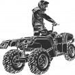 Royalty-Free Stock Vector Image: ATV off-road rider
