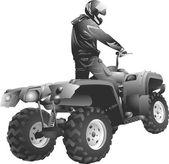 ATV off-road rider — Vettoriale Stock