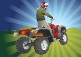 ATV off-road rider — Stock Vector