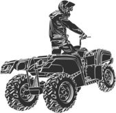 ATV off-road rider — Stock Vector