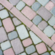 Colored paving paved at an angle in the form of steps — Stock Photo