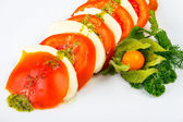 Tomatoes and cheese — Stockfoto