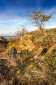 Yellow rocky slopes of the hill — Stock Photo