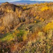 Valley and far away mountain range in autumn. horizontal — Stock Photo #30838983