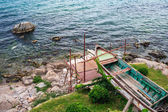 Lång väntan för att reparera på gammal båt — Stockfoto