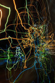 Abstract curvy web like light traces — Stock Photo