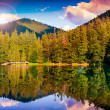 Mountain lake in evening — Stock Photo #36203407