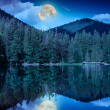 Midnight mountain lake — Stock Photo #36203447