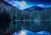 Midnight mountain lake — Stock Photo