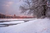 Jinovatka na zimní ráno — Stock fotografie