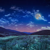 Moonlight beams in highland — Stock Photo