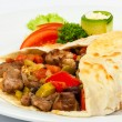 Burrito with beans and beef — Stock Photo