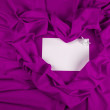 Stock Photo: Love card with angel on purple fabric