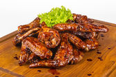 Chicken wings in hot sauce — Stock Photo