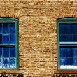 Two Blue Windows — Stock Photo