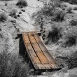Wood Bridge Over Gully — Stock Photo