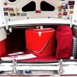 Open Car Trunk with Cooler — 图库照片