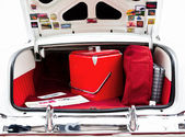 Open Car Trunk with Cooler — Stock Photo