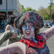 Zombie at Pasadena Doo Dah Parody of the Rose Parade — Stock Photo