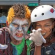 Stock Photo: Ghoul and Zombie at PasadenDoo Dah Parody of Rose Parade