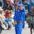 Stock Photo: Elvis impersonator at PasadenDoo Dah Parody of Rose Pa