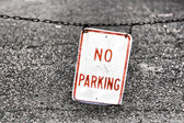 Worn No Parking Sign — Stock Photo