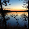 Sunset on the Lake in Indian Summer — Stock Photo #13701429