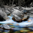 Stock Photo: Flowing River over Rocks at Chantry Flats