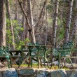Stock Photo: Table and Chairs in Forest at Chantry Flats