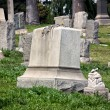 Stock Photo: Headstones at Angules Rosedale Cemetery