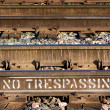 Stock Photo: No Trespassing on Train Tracks