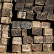 Stacked Railroad Ties - Stock Photo