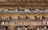 No Trespassing on Train Tracks — Stock Photo