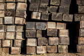 Stacked Railroad Ties — Stock Photo