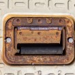 Filling Station Maintenance Cover Latch and Plate — Stock Photo