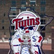 Minnesota Twins Scoreboard at Target Field - Stock Photo