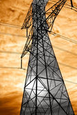 Overhead Power Lines — Stock Photo