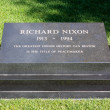Постер, плакат: Richard Nixons grave at the Richard Nixon Presidential Library