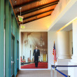 Inside the Ronald Reagan Presidential Library - Stock Photo