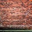 High Contrast Red Brick Backdrop or Background — Stock Photo