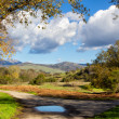 Salinas Valley Looking Gablian Mountains to the East - Stock Photo