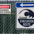 Tsunami Evacuation Route Sign — Stock Photo #18403479