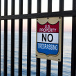 Stock Photo: United States Property, No Trespassing
